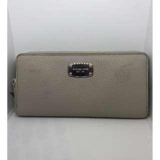bfa3532f621b BN Michael Kors Women's Jet Set Continental Zip Around Long Leather Wallet  (Cement ...