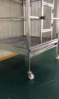 Used stainless steel parrot bird cage
