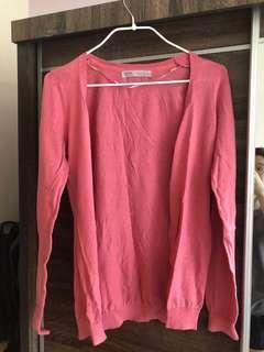 Bershka pink cardigan