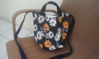 Sling bag / tas selempang flower orange