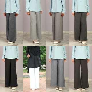 Cotton Linen Palazzo pants seluar baju peplum top blouse dress jubbah jubah