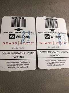 Grand Hyatt parking coupon