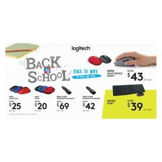 Logitech Back to School Promotion 1-20 Jan 19
