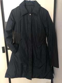 [全新]保暖修身長棉褸 深藍色 jacket coat