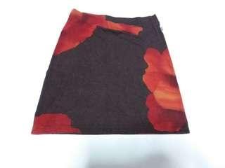 Hani Brown stretchable Skirt