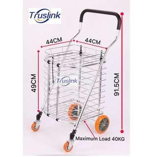 🚚 Truslink High Quality ALUMINIUM SHOPPING CART TROLLEY WITH COVER LARGE SIZE USER-FRIENDLY