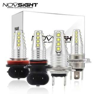 [Clearance!] NOVSIGHT LED H11/H8/H9/H16 JP 3200 Lumens Amber Color 12V DRL Car Lamp Auto Light Bulbs