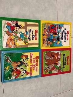 Disney Grammar and vocabulary books (by Grolier International)