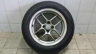 """15"""" Enkei CPS2 Rims & Tyres"""