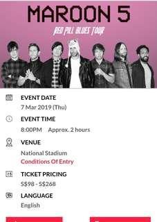 Maroon 5 Singapore Concert 2019