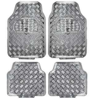 Metallic chrome car mat (SILVER)