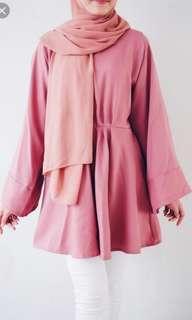 Dusty pink elsa dress