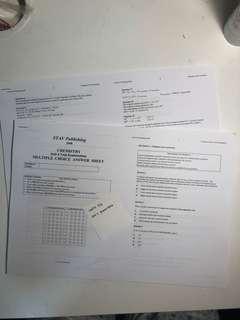 VCE units 3/4 Chemistry EXAMS