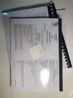 VCE units 3/4 chemistry exams set