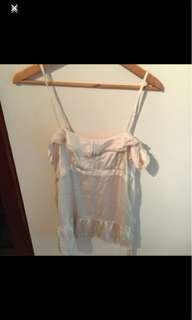 Miss Shop Size 10 Gold Silky Top