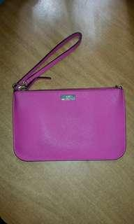Kate spade pink saffiano leather wallet