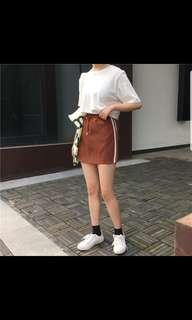 🚚 百搭休閒裙 棕色