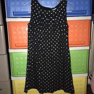 Black and sparkly silver polka dots dress for 5-7 years old
