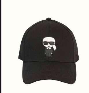 🚚 全新karl lagerfeld 老佛爺logo棒球帽#黑色#可以調整