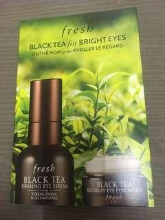Fresh black tea firming eye serum age delaying concentrate