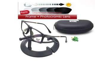 Lensa photocromic frame kacamata montblanc 0154