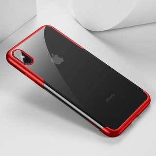 iPhone Xs Max 保護套 全角度保護殼 ( 紅色 ) 送 半屏透明保護貼  Full Protection Mobile Cover case For iPhone XS Max ( Red ) ,  Free Premium 9H Hardness Tempered Glass Clear Screen Protector ( Baseus)