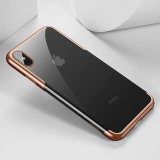 iPhone Xs Max 保護套 全角度保護殼 ( 金色 ) 送 半屏透明保護貼  Full Protection Mobile Cover case For iPhone XS Max ( Gold ) ,  Free Premium 9H Hardness Tempered Glass Clear Screen Protector ( Baseus)