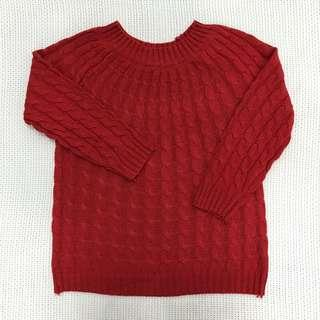 Red Knitted Sweatshirt