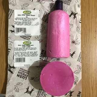 Lush Snow Fairy naked bath shower and conditioner