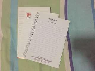 Paket 3 notes kertas bergaris