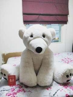 Giant Teddy Bear (Polar Bear)