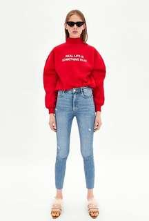 Zara Hi-Rise Skinny Vintage Jeggings