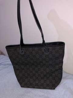 Gucci Vintage Black Small Tote Bag
