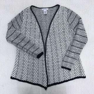 Black & White Knitted Cardigan