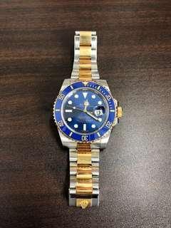 Rolex Half Gold Submariner Sunburst 116613LB
