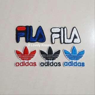 Adidas Fila Patches iron on