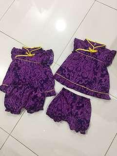 Baby girl oriental two piece set - 2 sets available