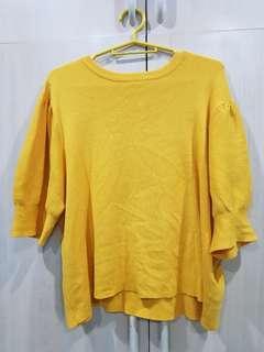 Bershka Mustard Knit top