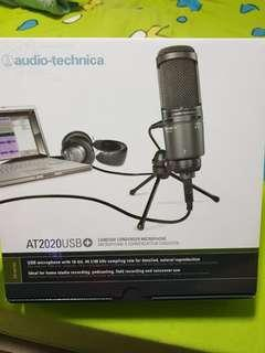 AudioTechnica AT2020USB+ Cardioid Condenser Microphone (Warranty Available)