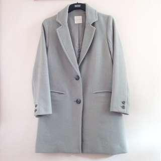 JAPAN LOWRYS FARM Collect+point Tailored Coat in Grey Blue