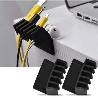 Cable Organiser -2 (come in pair with 5 slots each)