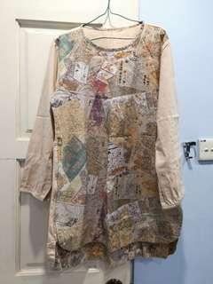 Map muslimah blouse from Indonesia