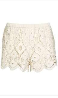 Topshop Crochet Shorts