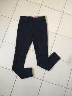 Highwaisted black jeans