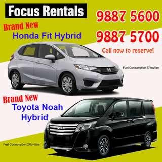 Brand New Cars Available for booking!!