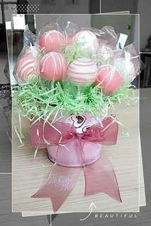 Edible Cake Pop Bouquet