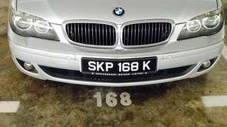 Car Plate 168 *一路发*