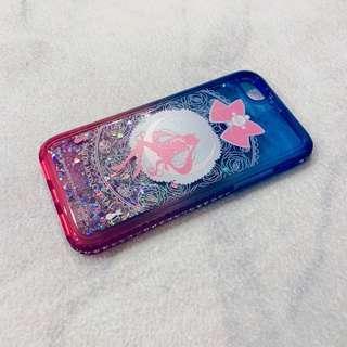 🚚 美少女戰士正版授權 IPHONE 7系列 閃亮流沙水鑽漸層雙色手機殼