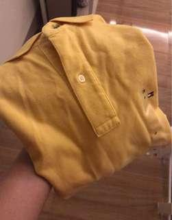Yellow Tommy Hilfiger Polo Shirt