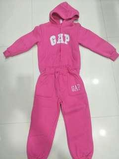 Limited edition pre-loved baby GAP track suit in bright pink colour